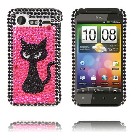 """Paris (Svart Kattunge Rosa) HTC Incredible S """"Bling-Bling"""" Skal"""