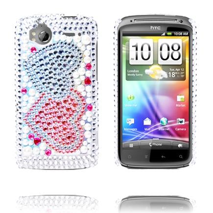 Paris (Två Hjärtan) HTC Sensation Bling-Bling Skal