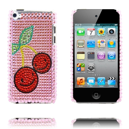 Paris (Två Röda Smileys) iPod Touch 4 Skal med Bling-Bling