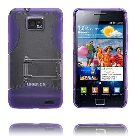 Quadro – Inbyggt stativ (Lila) Samsung Galaxy S2 Skal