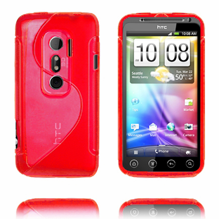 S-Line (Röd) HTC Evo 3D Skal