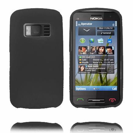 Mjukskal (Svart) Nokia C6-01 Skal