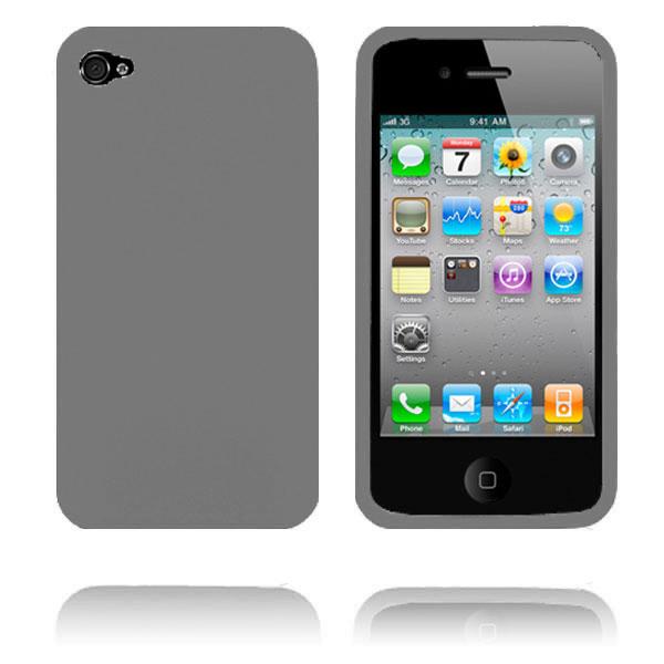 Mjukskal (Grå) iPhone 4/4S Silikonskal