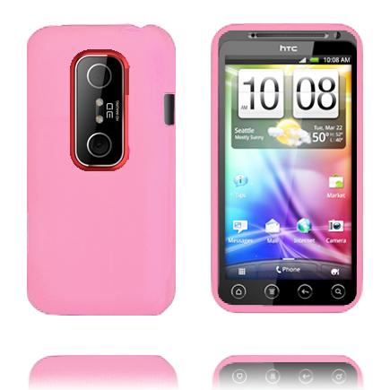 Mjukskal (Ljusrosa) HTC Evo 3D Skal
