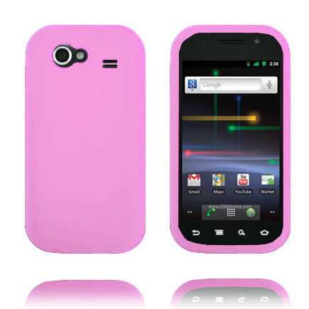 Mjukskal (Ljusrosa) Samsung Google Nexus S Skal