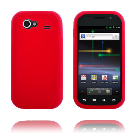 Mjukskal (Röd) Samsung Google Nexus S Skal