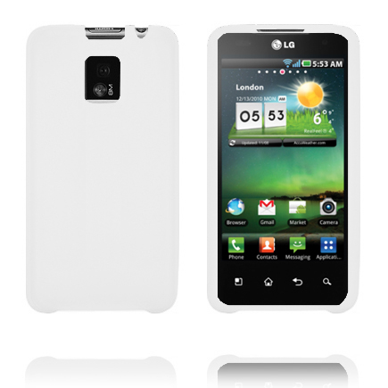 TPU Shell (Vit) LG Optimus 2X Skal