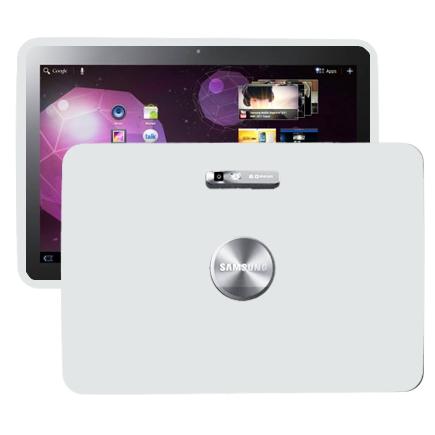 Mjukskal (Vit) Samsung Galaxy Tab 10.1 Skal (P7100)