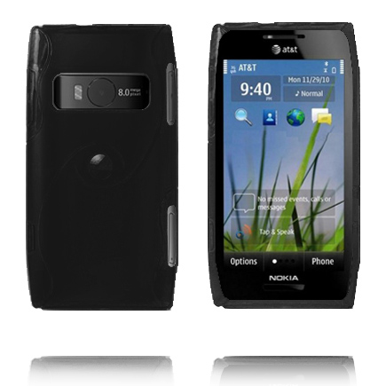 Storm (Svart) Nokia X7 Skal