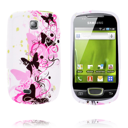 Symphony (Svart Fjäril) Samsung Galaxy Mini Silikonskal