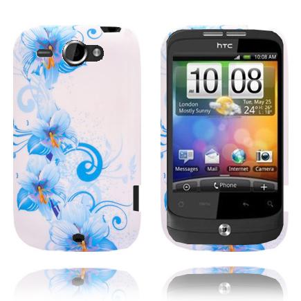 Symphony (Blå Blommor) HTC Wildfire G8 Skal