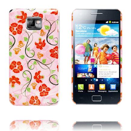Symphony Duo (Röda Blommor) Samsung Galaxy S2 Skal