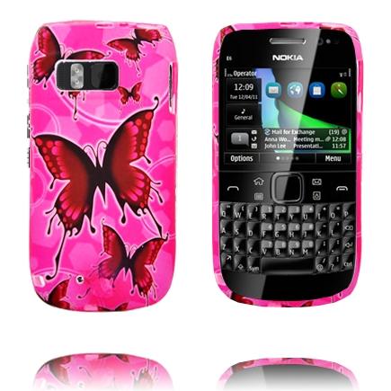 Symphony (Rosa – Röda Fjärilar) Nokia E6 Skal