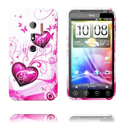 Symphony (Två Lila Hjärtan) HTC Evo 3D Skal
