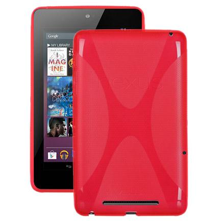 X Fighter Transparent (Röd) ASUS Google Nexus 7 Skal