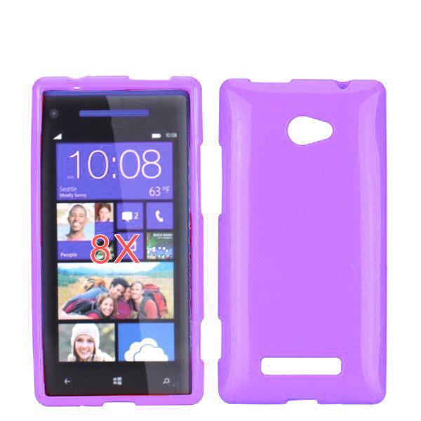 Soft Glitter (Ljuslila) HTC 8X Skal