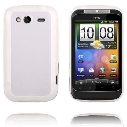 Transparent Back (Vit Kant) HTC Wildfire S Skal