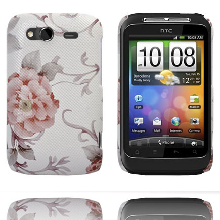 Valentine (Ljusrosa Ros) HTC Wildfire S Skal