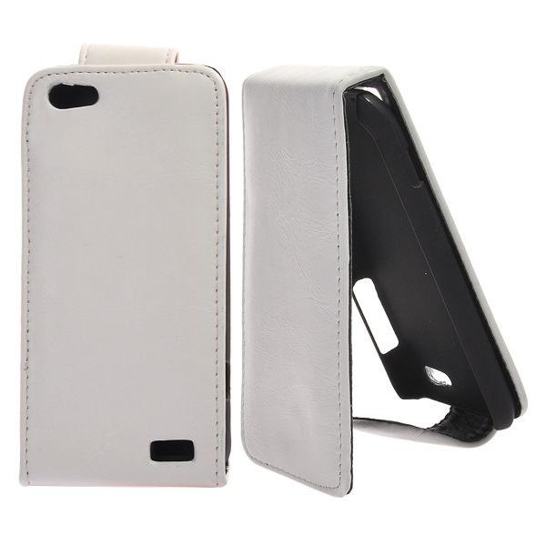 Klassisk HTC One V Läderfodral (Vit)
