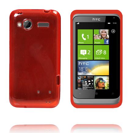 TPU Shell Transparent (Röd) HTC Radar Skal
