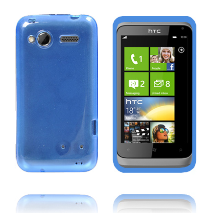 TPU Shell Transparent (Blå) HTC Radar Skal