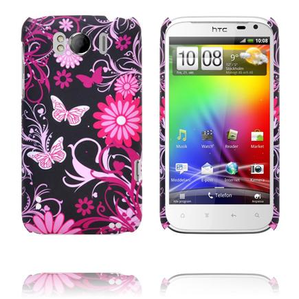 Valentine (Rosa Fjärilar) HTC Sensation XL Skal