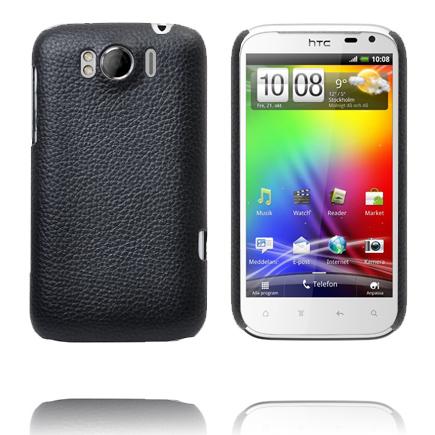 Leather Coated (Svart) HTC Sensation XL Skal