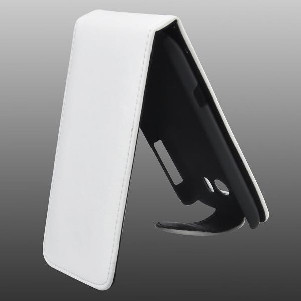Exklusiv HTC Sensation XL Läderfodral (Vit)
