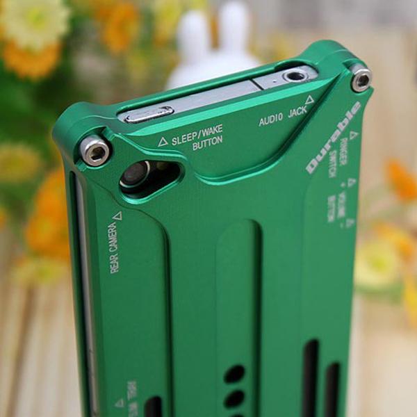 X-Guard Aluminum-Bumper för iPhone 4 / 4S (Grön)