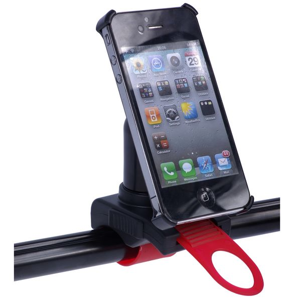 Cykelhållare för iPhone 4 (Röd)