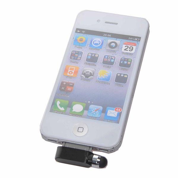 iPhone 4 Dammskydd med Stylus (Svart)
