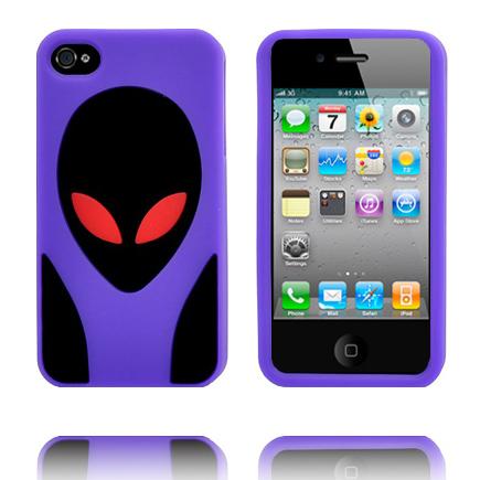 Alien Invasion (Lila) iPhone 4S Silikonskal