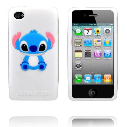 Baby Stitch (Vit) iPhone 4S Silikonskal