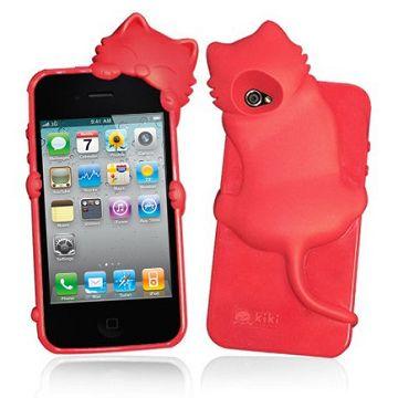 Kitty Crawling (Röd) iPhone 4S Silikonskal