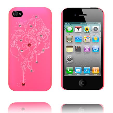 Abstract Curve – Matt Transparent (Rosa) iPhone 4S Skal