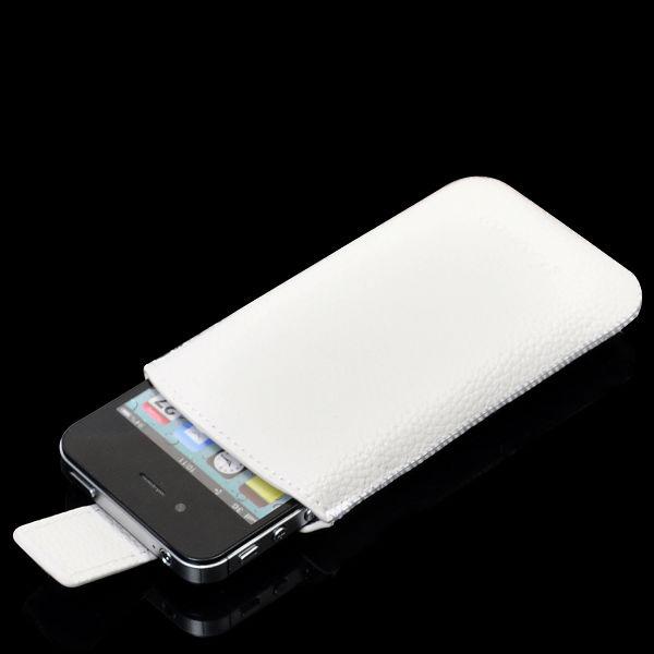 SlimLine iPhone 4S Läderpåse (Vit)