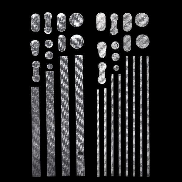 Custom Edge Klistermärke för iPhone 4S/4 Metallram (Carbon)
