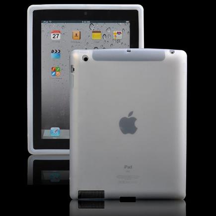 Mjukskal – Safe Front (Vit – Transparent) iPad 3 / iPad 4 Silikonskal