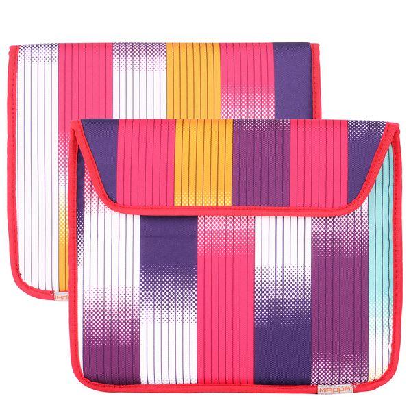 Canvas Regnbåge-väska för din iPad 3/iPad4 (Rosa Mix)