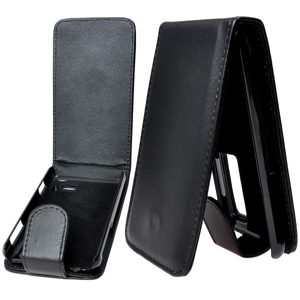 LG Optimus 3D (Svart) Läderfodral