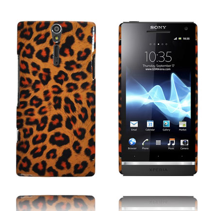 Safari Fashion (Orange Leopard) Sony Xperia S Skal