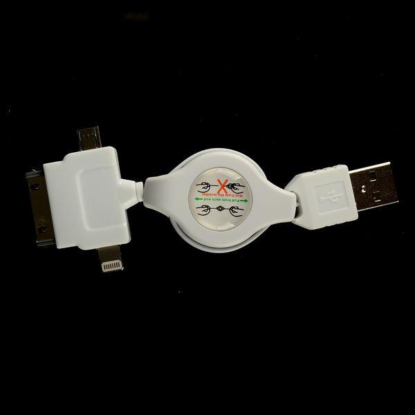 CombiFlow USB till Apple Legacy Lightning och Micro-USB (Vit)