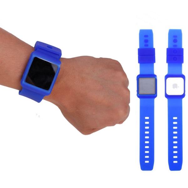 Silicon Klockarmband (Blå) för iPod Nano 6