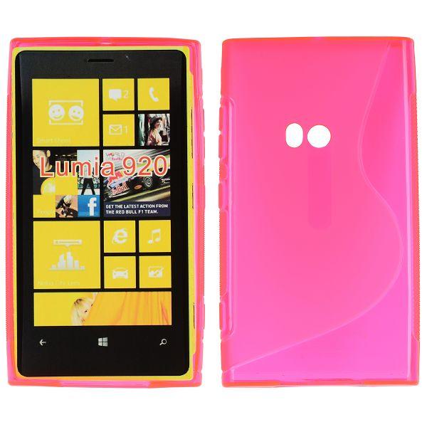 S-Line Transparent (Het Rosa) Nokia Lumia 920 Skal