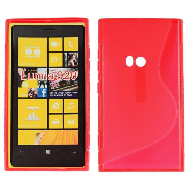 S-Line Transparent (Röd) Nokia Lumia 920 Skal