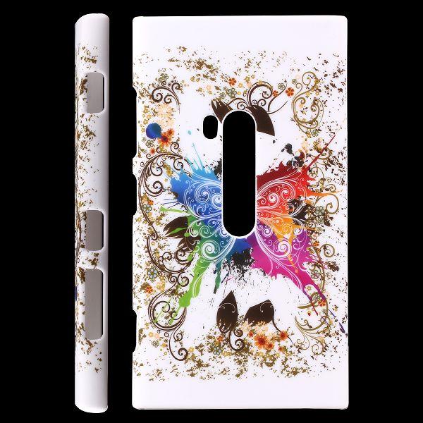 Valentine (Centrerad Regnbågsfjäril – Vit) Nokia Lumia 920 Skal