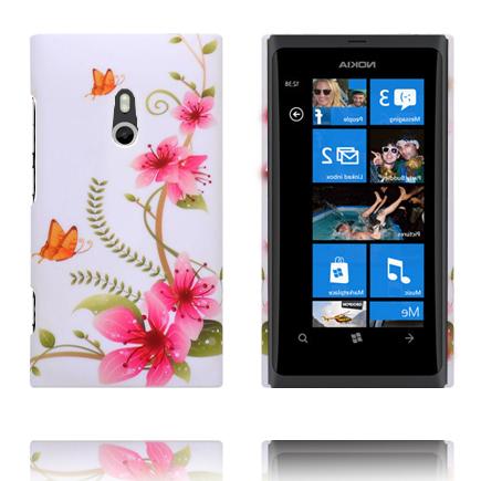 Valentine (Rosa Blommor – Två Orange Fjärilar) Nokia Lumia 800 Skal