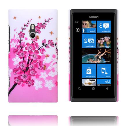 Valentine (Rosa Blommande Gren) Nokia Lumia 800 Skal