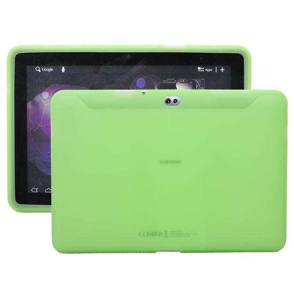 Mjukskal Transparent (Grön) Samsung Galaxy Tab 10.1 Skal (P7500)