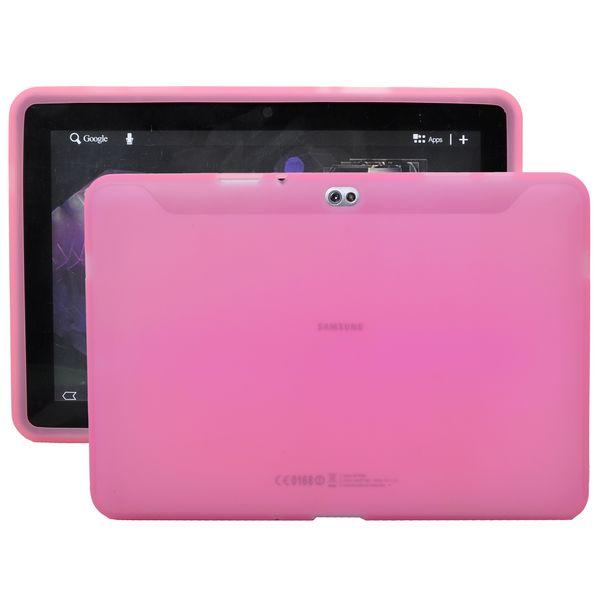 Mjukskal Transparent (Ljusrosa) Samsung Galaxy Tab 10.1 Skal (P7500)
